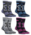 Storm Bloc - 2 Pack Ladies Thick Padded Wool Blend Walking Boot Socks for Winter