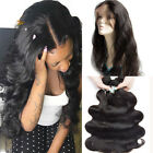 360 Full Lace Frontal Closure Band Pre Plucked Virgin Human Hair With Baby Hair