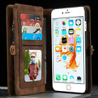 Luxury Leather Wallet Magnetic Flip Card Case Cover for iPhone 7 Plus Samsung