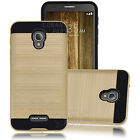 Shockproof Case Hybrid Rubber Armor Brushed Protective Cover for Alcatel Phone