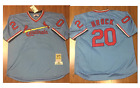 Lou Brock 20 St Louis Cardinals Cooperstown Baseball Jersey Throwback STITCHED