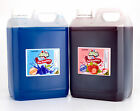 2.5 Litre Sugar Free Blue Raspberry and Strawberry Cans Bulk Buy Slush Syrup