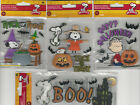 U CHOOSE  Assorted PEANUTS HALLOWEEN 3D Stickers snoopy linus cauldron boo bat