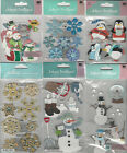 U CHOOSE  Assorted Jolee's WINTER 3D Stickers snowmen snowflakes sled flurry