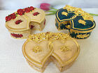 Double Heart Antique style Jewelry Trinket Box pink gift for she and mum
