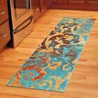 RUNNER RUGS CARPET RUNNERS AREA RUG RUNNERS MODERN COLORFUL BLUE KITCHEN RUGS ~~