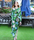 17 occident speaker long sleeves printing makings Vacation long pretty dress