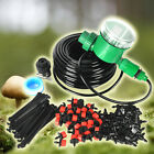 25m DIY Auto Timer Plant Watering Drip Irrigation Dripper System Lawn Sprinkler