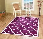 Large Modern Geometric Moroccan Trellis Thin Carpet Purple Contemporary Area Rug