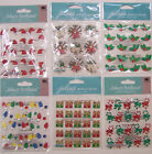 U CHOOSE  Assorted Jolee's CHRISTMAS REPEATS 3D Stickers stockings holly drums