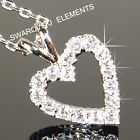 """SALE 9ct 9K White"""" Gold Filled """" Prom made with Swarovski Crystal Necklace p790"""