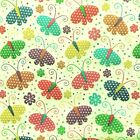 NEW! Blue GIRLS Children's BUTTERFLY Cream Polycotton FABRIC Craft Reduced Price