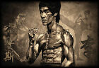 Brown Bruce Lee Montage Poster Wall Art Prints Home Decoration Movie Legends