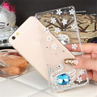 3D Bling Diamond Transparent TPU Soft Ultra Thin Back Case Cover For Phones #N1