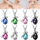 Women Crystal Rhinestone Pendant Jewelry Necklace Fashion Chain Bridal Jewelry @