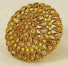 Goldtone Traditional Adjustable Ring Bollywood Party New Jewelry-KR54-PAR