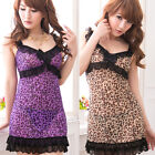 NEW Leopard Lace Lingerie Babydoll Nighty Camisole