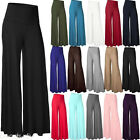 Women OL Summer Palazzo High Waist Career Wide Leg Trousers Loose Casual Pants