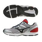 Mizuno Spark Junior Red Grey Cushioned Running Road Sports Shoes Trainers