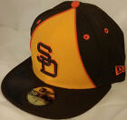 NWT NEW ERA San Diego PADRES CA SD high crown 59FIFTY size fitted cap hat mlb
