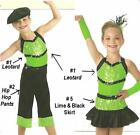 Limelight Dance Costume 3pc Set Leotard and Capri Pants and Skirt Child X-Small
