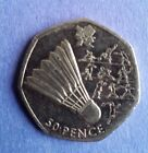 Circulated British London 2012 Olympics Fifty pence (50p) Coins