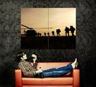 Silhouette Army Soldiers Helicopter Print POSTER Plakat