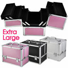 Aunifun Extra Large Vanity Case Beauty Box Make up Jewelry Cosmetic Nail Storage