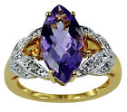 Authentic Amethyst 3.35 Ct Cocktail Ring Solid Gold Anniversary Eternity Jewelry