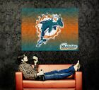 Miami Dolphins Logo NFL Wall Print POSTER US