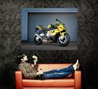 BMW S1000RR Yellow Super Bike Motorcycle Wall Print POSTER CA