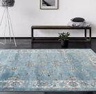 RUGS AREA RUGS CARPET LARGE AREA RUGS 8x10 ORIENTAL RUG DISTRESSED RUG BLUE NEW~