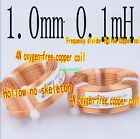 1pcs Frequency divider Hollow copper coil Oxygen-free copper coil 0.1mH-3.1mH