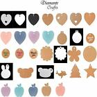 10 Tags Kraft Paper Labels Craft Gift Luggage + String - Choose from 63 Designs