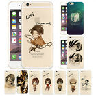 Ultra Thin Attack on Titan Anime Levi Clear Case Cover For iPhone 5 SE 6 7 Plus