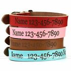 Custom Made Personalised PU Leather Pet Dog Safety Collars Carving Name Number