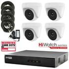 4Ch HiWatch DVR, 4 x 1080p HD-TVI 40m IR White Turret cameras, 40m IR CCTV kit