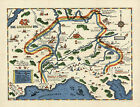 WWII Military War Map 42nd Infantry Rainbow Div. U.S. Army History War Poster