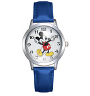 NEW DISNEY MICKEY MOUSE WATCH - Stainless Steel & Leather - Free Delivery