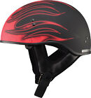 Gmax GM65 Flame Half Helmet Black/Red