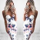 Fashion Women Floral Sleeveless Bodycon Dress Evening Party Cocktail Prom Dressn