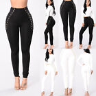 New High Waisted Thick Leggings Jeggings Stretch Skinny Pants Us Stock