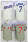 7 Ivan Rodriguez Texas Rangers Baseball Men Jersey Throwback STITCHED