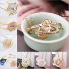 Hot New Harry Potter Time Turner Hermione Granger Spins Hourglass Gold Necklace