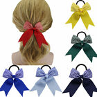 """1x 5"""" Girls Gingham Hair Bow Rubber Pony Tail Holder Headwear Hair Accessories"""