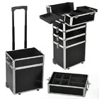 Rolling Cosmetic Beauty Aluminum 4 in 1 Organizer Wheeled Train Case Makeup Case