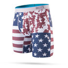 "Stance Underwear ""Digi Camo Flag"" Boxer Briefs (Red) Men's USA Flag Print"