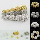 5X Czech Crystal Rhinestone Round Ball Strong Magnetic Connector Clasp 8mm-16mm