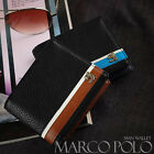 (MARCO POLO) Men's Trifold Premium Faux Leather Wallet #MP567-8 Free Shipping