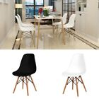 Modern Home Furniture 1x Dining Table Set/ 4x Dining Chairs Wood Legs 2 Colors